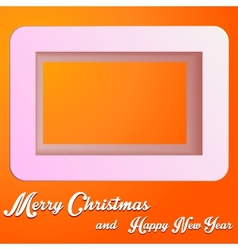 Christmas square vector