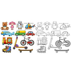 Classic toys vector image vector image