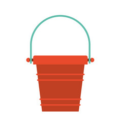Color silhouette of toy bucket beach kit vector
