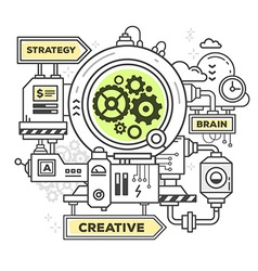 Creative professional mechanism to make a vector