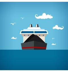 Dry cargo ship vector