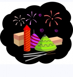 firecrackers vector image vector image