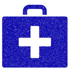 first aid bag icon grunge watermark vector image