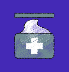 flat shading style icon medical napkins vector image vector image