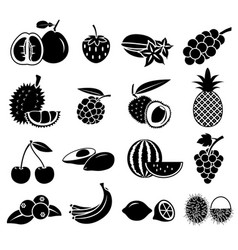 fruit icon set 02 vector image vector image