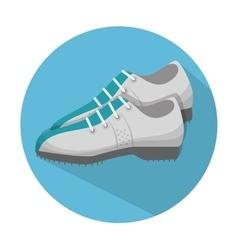 Golf shoes design vector
