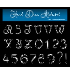 Hand Draw Alphabet 2 vector image vector image