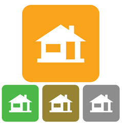 Home icon house silhouette vector