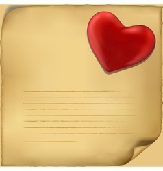 Love letter icon on white background vector image vector image