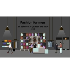 Men fashion concept people shopping in a mall vector