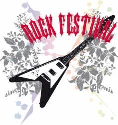 rock music design vector image vector image