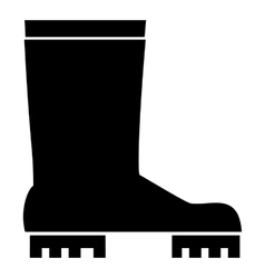 Rubber boots icon simple style vector image