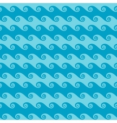 Seamless sea wave abstract pattern vector