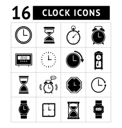 Set of time and clock vector image vector image
