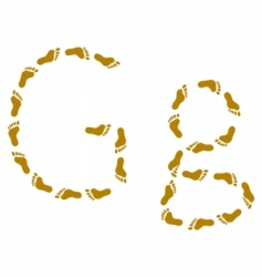 Traces letter g vector