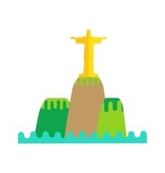 Rio De Janeiro Flat Background vector image