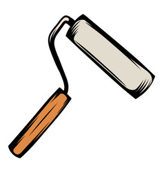 Paint roller icon cartoon vector