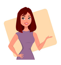 character beautiful business woman 07 vector image