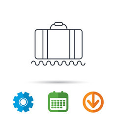 baggage icon luggage sign vector image