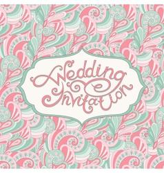 Abstract wedding invitation vector