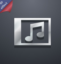 Audio mp3 file icon symbol 3d style trendy modern vector