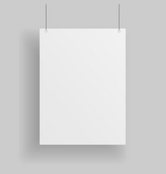 Blank white paper page vector
