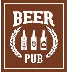 Pub beer and alcohol vector