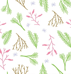 Botanical tile winter wallpaper vector