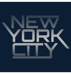 Nyc typography t-shirt graphics vector