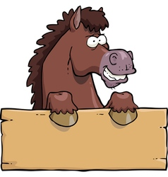horse head with a board vector image