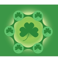 Shamrock green metaball template vector