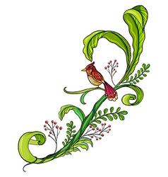 A border with a bird vector image vector image