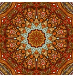 Abstract autumn mandala ethnic tribal pattern vector