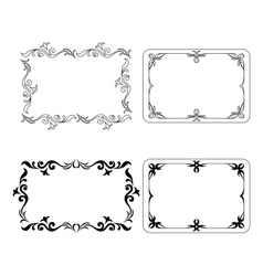 Abstract frames set vector image vector image