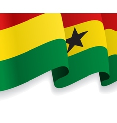 Background with waving ghana flag vector