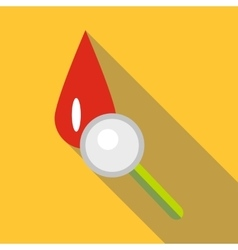 Blood icon flat style vector
