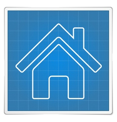 Blueprint House Icon vector image vector image