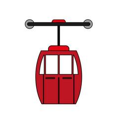 Cableway cabin design vector