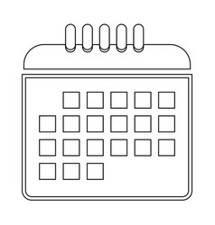 Calendar the black color icon vector