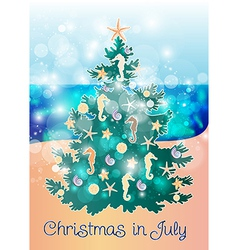 Christmas in July vector image vector image