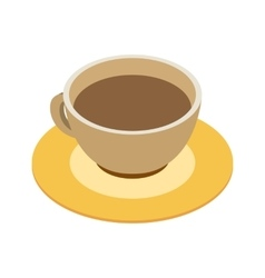 Coffee cup isometric 3d icon vector