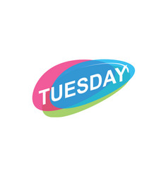 Colorful tuesday icon vector