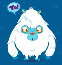 Cute cartoon monster bigfoot character vector