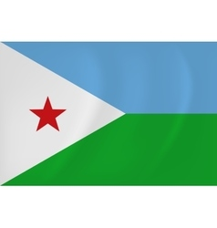 Djibouti waving flag vector