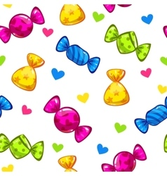 Funny seamless pattern with candies vector image vector image