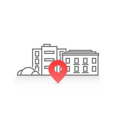 Geo location like thin line house vector