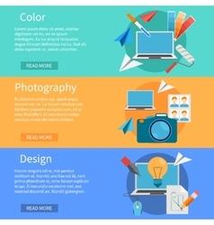 Horizontal design banners vector