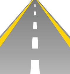 Road with a broken white stripe vector