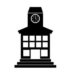 school building front icon vector image