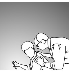 senior manager give his subordinate an advice vector image
